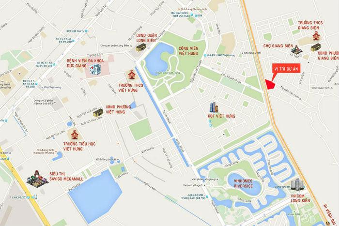 Bản đồ vị trí dự án Happy Star Tower