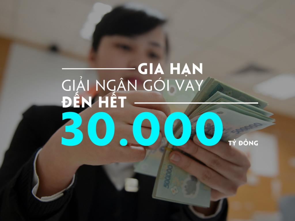 Xem xét gia hạn giải ngân gói vay 30000 tỷ