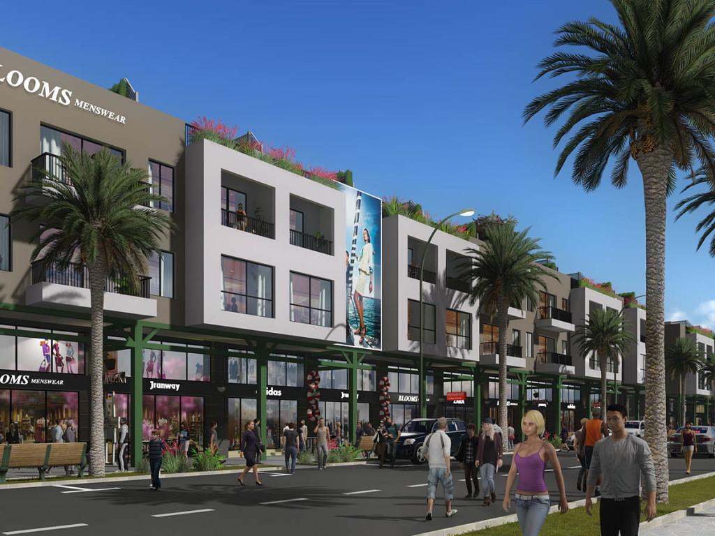 Trung tâm thương mại, nhà hàng, cafe phục vụ nhu cầu khách du lịch