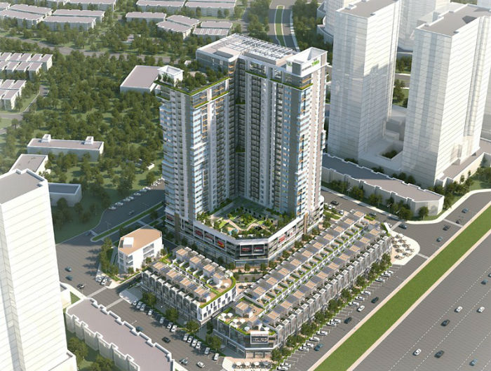 Phối cảnh 7 tòa căn hộ Chung cư Gamuda Gardens