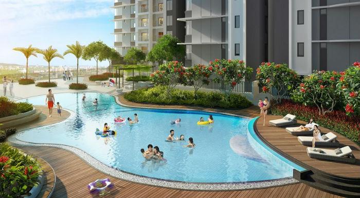 Bể bơi vô cực tầng 5