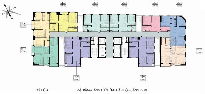 Thiết kế căn hộ dự án Xuân Mai Riverside 150 Thanh Bình