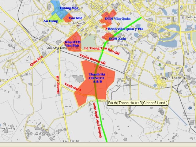 Vị trí Dự án Khu đô thị Thanh Hà Cienco 5 Mường Thanh