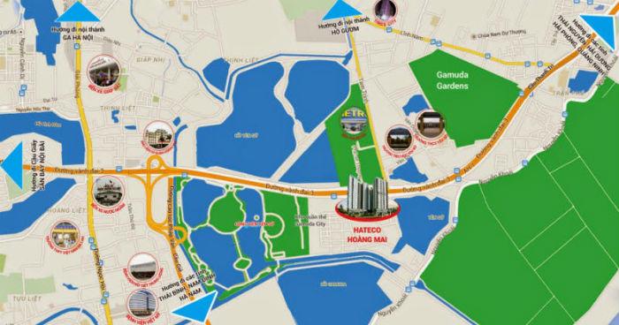 Vị trí chung cư Hateco Hoàng mai