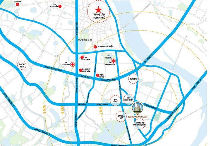 Bản đồ vị trí chung cưĐồng Phát Park View