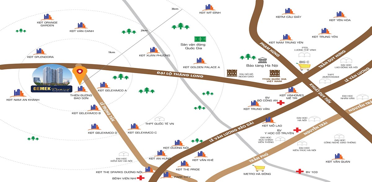 Vị trí và kết nối của Gemek Shopping Mall